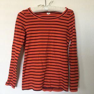 JCREW Striped long sleeve top